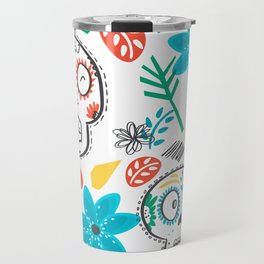 Summer sugar skulls Travel Mug