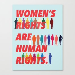 Women's Rights Are Human Rights Canvas Print