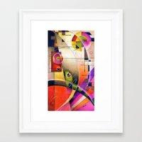kandinsky Framed Art Prints featuring Kandinsky Cadence by Alma Lee