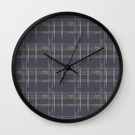 Rosewall plaid Wall Clock