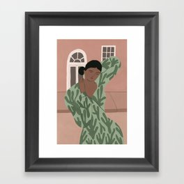 An Abstract Cacti Dress Framed Art Print