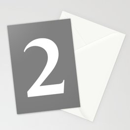 2 (WHITE & GRAY NUMBERS) Stationery Cards
