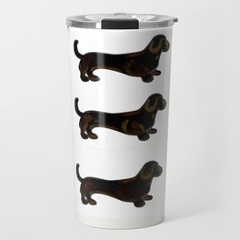 Black and Tan GO - Dachshund Trio Travel Mug