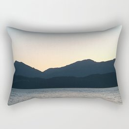 Sunset and Crescent Moon over the Water Rectangular Pillow