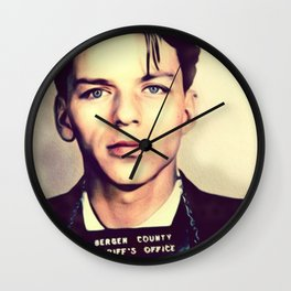 Frank Sinatra Mugshot Wall Clock