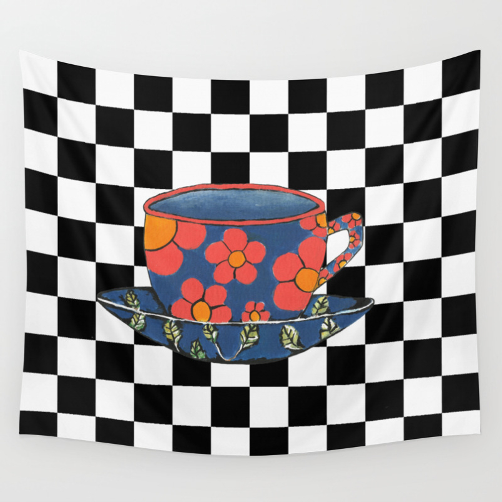 Cup And Saucer Wall Tapestry by Kathleensartoris TPS4149148