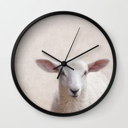 Lamb Portrait Wall Clock