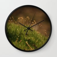moss Wall Clocks featuring Moss by A Wandering Soul