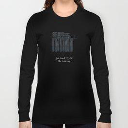 Jurassic Park - hacker crap Long Sleeve T-shirt