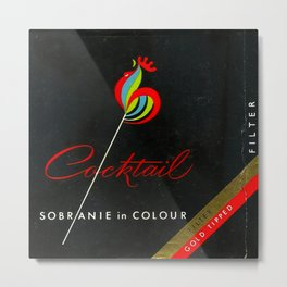 Cocktail - Vintage Cigarettes Metal Print