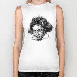 Ludwig Van Beethoven line drawing Biker Tank
