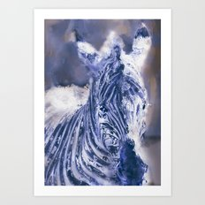 Zebra Oil Art Print