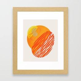 Modern irregular Stripes and forms 01 Framed Art Print