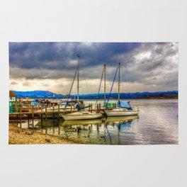 Yachts on Lake Windermere Rug