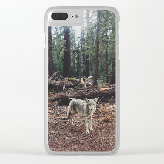 Injured Coyote Clear iPhone Case