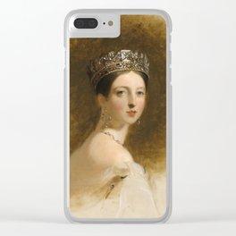 Queen Victoria Clear iPhone Case