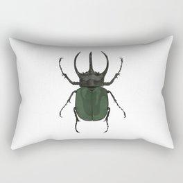Atlas Beetle Insect Digital Watercolor Rectangular Pillow