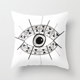 Eyes Wide Open Throw Pillow