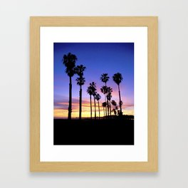 "Sunsets ""Santa Barbara Palms"" Framed Art Print"