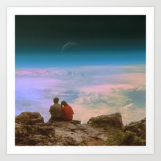 Love is looking in the same direction Art Print