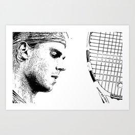 Relentless Rafa Art Print