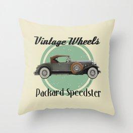 Vintage Wheels - Packard Boattail Speedster Throw Pillow