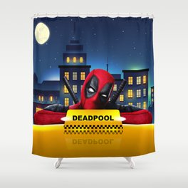 Dead Pool Taxi Night Shower Curtain