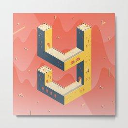 castle in the 'Y' Metal Print