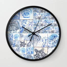Oceans 4X by Raffa Wall Clock