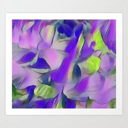 Heavenly Rose Petals Abstract - Purple Art Print