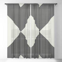Minimal X Black Sheer Curtain