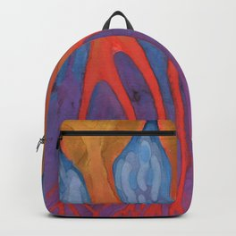 Walking On A Violet Backpack