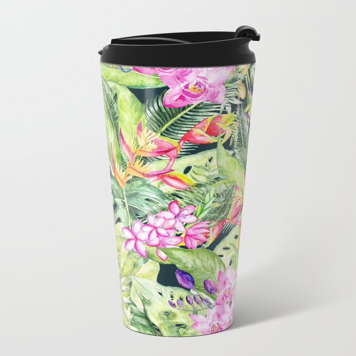 Tropical Garden 1 #society6 Metal Travel Mug