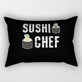 Sushi Chef Japan Maki Rice Rectangular Pillow