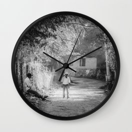 Quiet Mexico Road Afternoon, Cooper Canyons Wall Clock