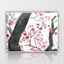 red plum flower forest Laptop & iPad Skin