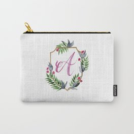 Jungle Gold Monogram Crest A Carry-All Pouch