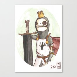 Skull King of the Obsidian Crown Canvas Print