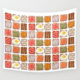 Breakfast Toast Wall Tapestry