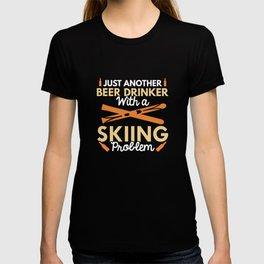 Beer Drinker Skiing T-shirt