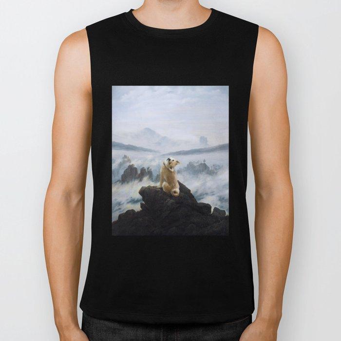 The Wanderer Above the Sea of Doge Biker Tank