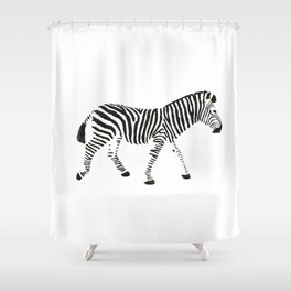 Disappearing Zebra Shower Curtain