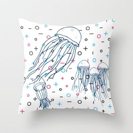Memphis Ocean #4 Throw Pillow
