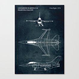 F-16 Fighting Falcon - 1974 Canvas Print