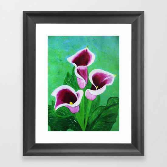 Kala Lilies  Framed Art Print