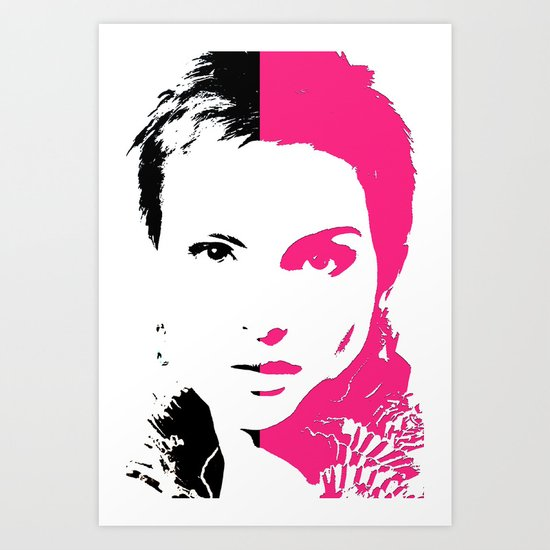 DOUBLE FACE Art Print