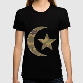 Islam symbol Camouflage Gift T-shirt