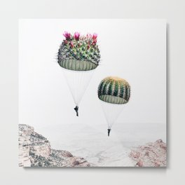 Flying Cacti Metal Print