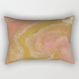 Pink Swirl, Abstract Fluid Acrylic Rectangular Pillow
