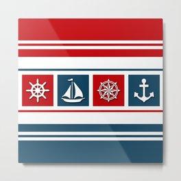 Nautical symbols Metal Print